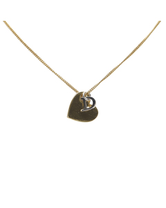 Dior Heart Logo Pendant Necklace Gold