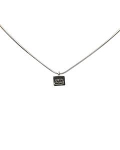 Dior Cube Pendant Necklace Silver