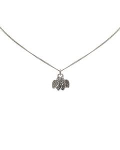 Dior Heart Logo Pendant Necklace Silver