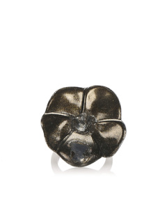 Chanel Camellia Ring Black