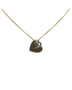 Dior Heart Logo Pendant Necklace Gold