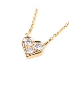 Tiffany Diamond Heart Pendant Necklace Gold