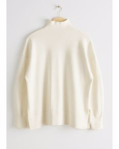 Turtleneck Sweater White