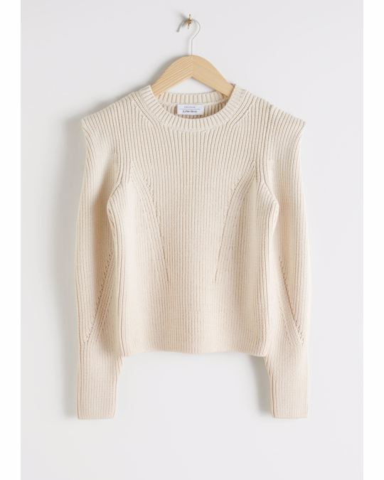 & Other Stories Sweater Light Beige