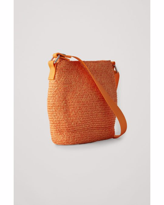 COS Hexagonal Crossbody Bag Orange