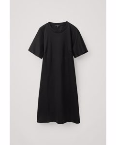 Short-sleeved Jersey Dress Black