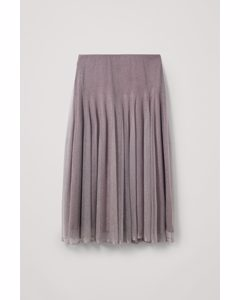 Knitted Layered Skirt Grey