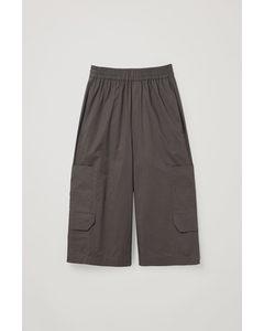 Cargo Cotton Shorts Dark Grey