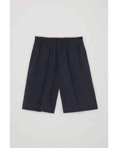 Jersey Knee-length Shorts Navy