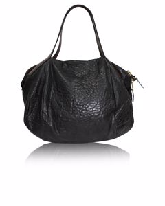 Schwarze Bowlingtasche aus Leder