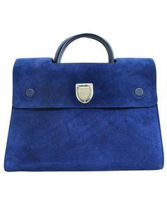 Blaue Wildleder Diorever Tasche