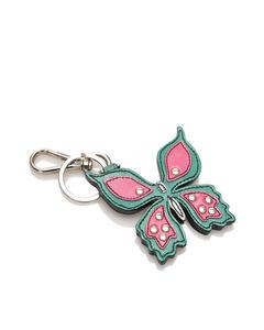 Prada Butterfly Leather Key Chain Multi