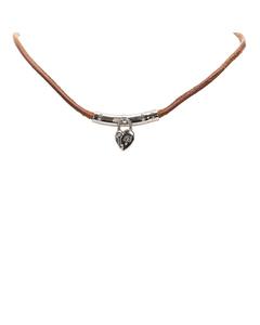 Hermes Cadena Leather Choker Brown
