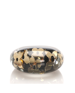 Louis Vuitton Resin Crystal Inclusion Ring Black