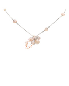 Dior Coral Shell Necklace Pink