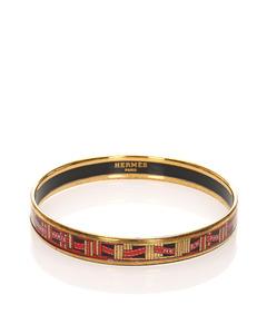 Hermes Enamel Bangle Gold
