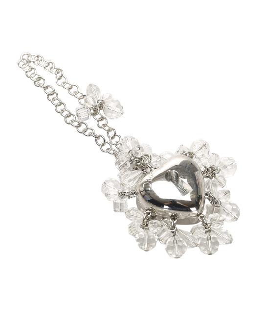 Christian Dior Dior Silver-tone Heart Bag Charm Silver