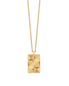 In'n'out Tag Necklace In Gold
