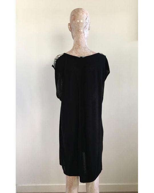 Schwarzes verziertes Kleid bis zu -70 % | AFOUND