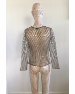 Gold Mitya Mesh Top