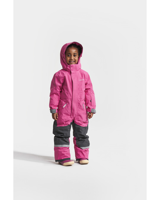 Didriksons Aslan Kids Coverall Plastic Pink