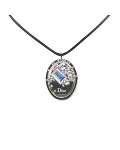 Dior Cristal Boreal Lipgloss Pendant Necklace Silver