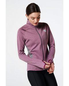 Warm Up Jacket  Purple Melange