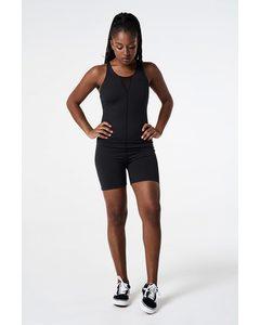 Motivation Short Body Suit  Black