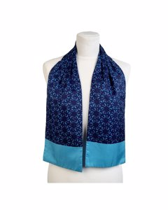 Hermes Vintage Turquoise Silk Scarf Mod: Ascot