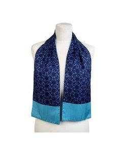 Hermes Turquoise Seidenschal Modell: Ascot