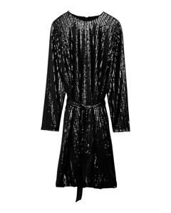 Britta Sequin Dress  Black
