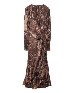 Tammy Dress  Brown Snake