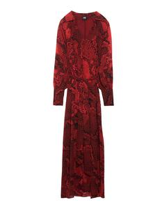 Antonia Dress  Red Snake