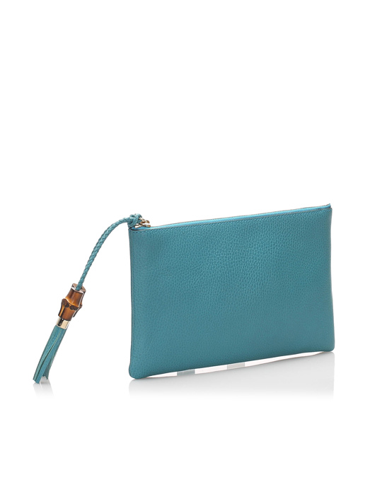 Gucci Gucci Dollar Calf Clutch Bag Blue