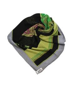 Hermes Printed Silk Scarf Green