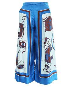 Silk Carriage Printed Pants