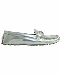 Silver Patent Leather Loafer