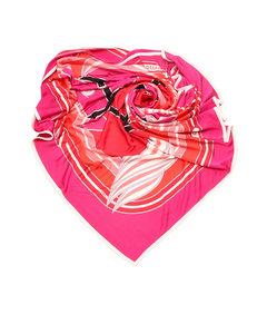 Hermes Quadrige Silk Scarf Pink