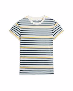 Striped T-Shirt Offwhite/Yellow