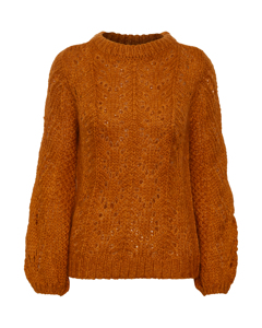 Sl Aubree Pullover Ls Flame Orange Melange