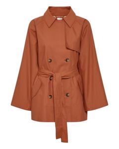 Slchicago Short Trenchcoat Burnt Ochre