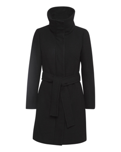 Zeolaiw Zip Coat Solid Black