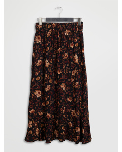 Subira Skirt Wallpaper Flower Black