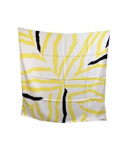 Hermes Yellow Silk Scarf Mod: Rosace