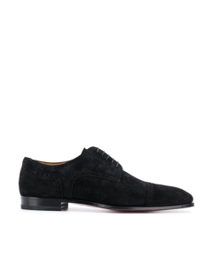 Christian Louboutin Cousin Charles Velour Oxfords Black