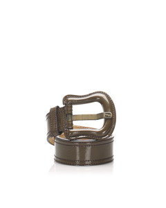Fendi Patent Leather Belt Brown