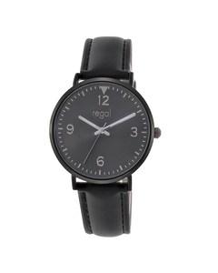 Regal Armbanduhr mit schwarzem Kunstlederarmband