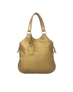 Ysl Tribute Metallic Leather Tote Bag Gold