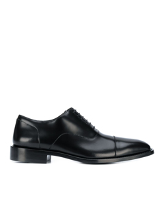 Balenciaga Leather Derby Shoes Black