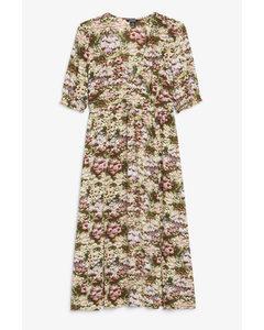 Puff Sleeve Maxi Dress Multi Floral Print
